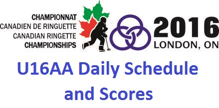 Canadian Ringette Championships - U16AA Daily Schedule and Scores